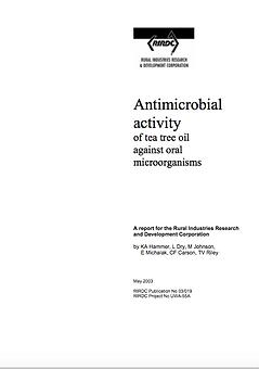 RIRDC 9 - Antimicrobial activity of Tea