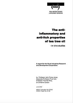 RIRDC 3 - Anti Inflamatory and Anti Itch