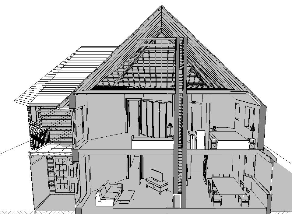 3D Section BW