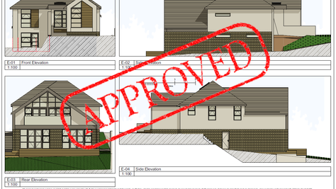 Planning Approved: Two storey rear extension on a sloping site!