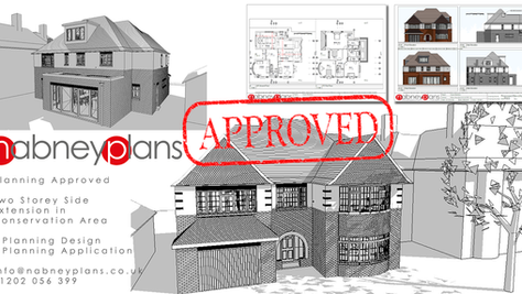 Conservation Area - Planning Approved for Two-Storey Side Extension