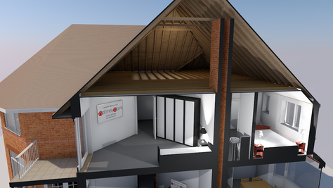 The benefits of accurately modelling existing houses in 3D