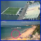 New Football Beach-stadium, no diving!