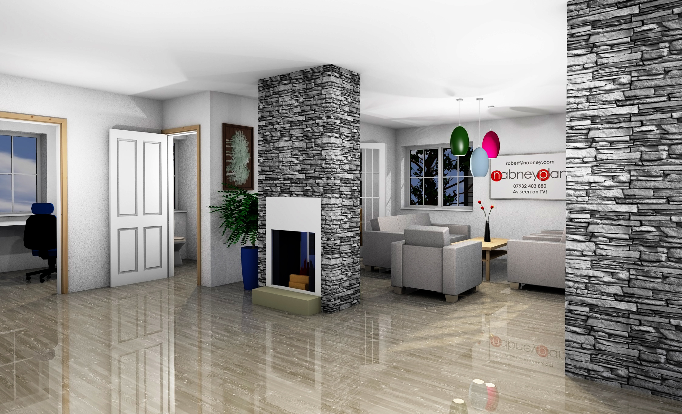 Internal photo-rendering