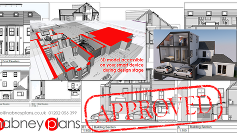 Two storey side extension plus loft conversion approved in Parkstone
