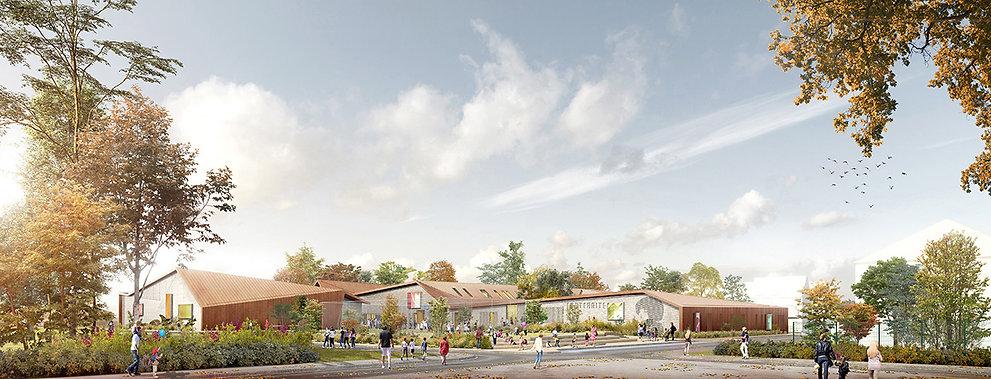 Modélisation 3D du groupe scolaire à Chennevières-sur-Marne
