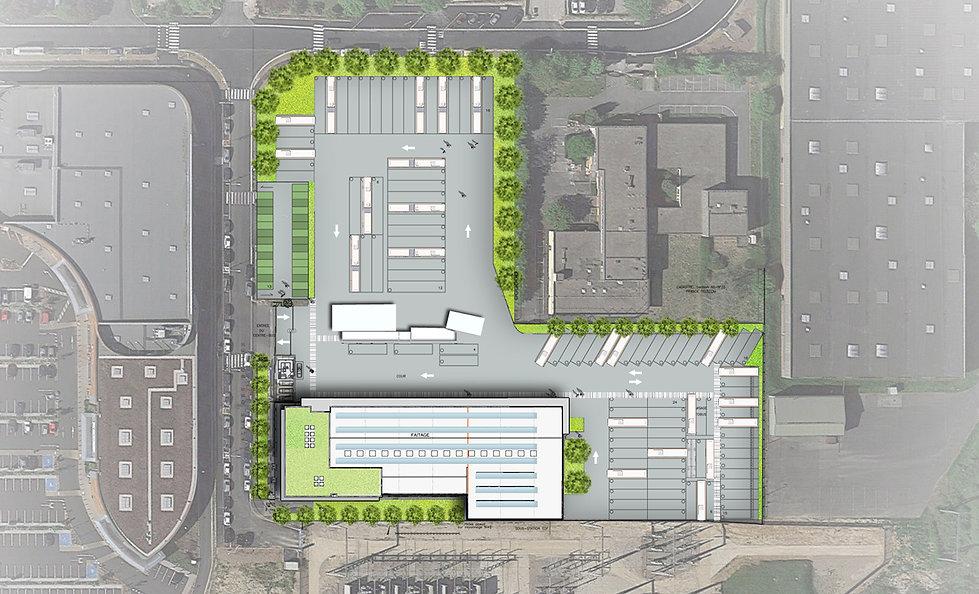 Plan aérien du Centre de Maintenance de Bus à Bussy-Saint-Martin