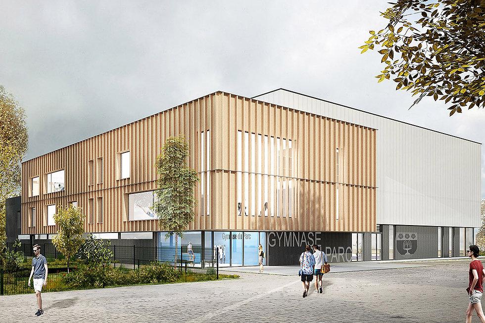 Modélisation 3D du Gymnase du Parc à Fontenay-aux-Roses