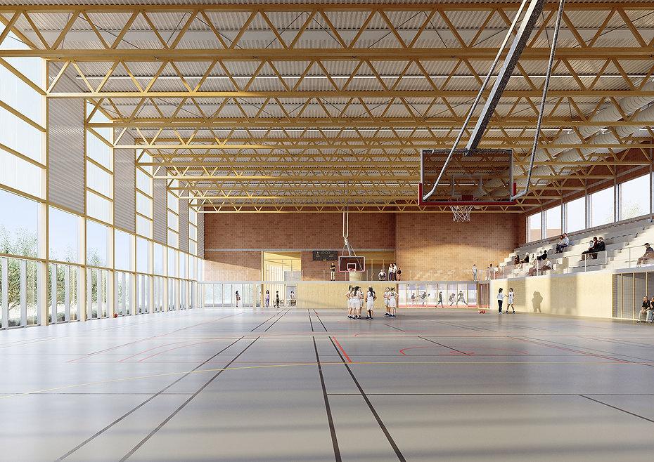 Modélisation 3D du complexe sportif Didier Vaillant à Villiers-le-Bel