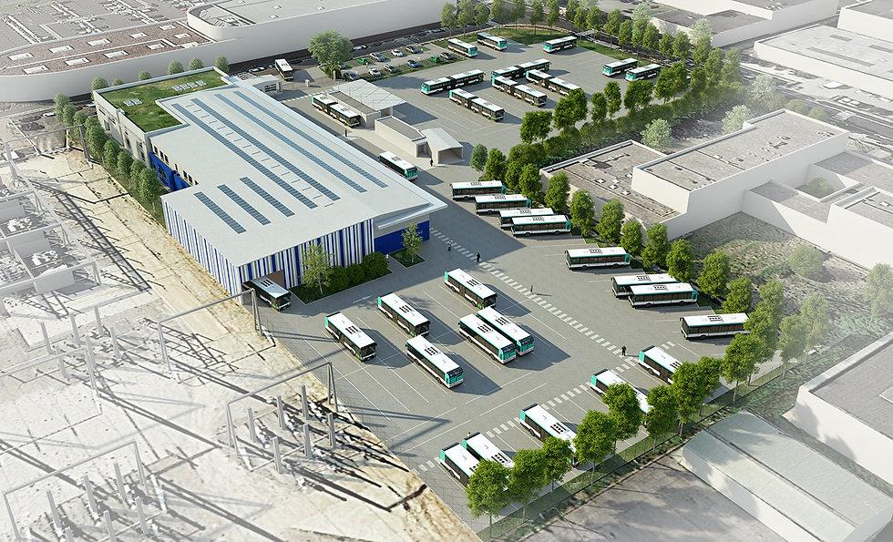 Modélisation 3D du Centre de Maintenance de Bus à Bussy-Saint-Martin