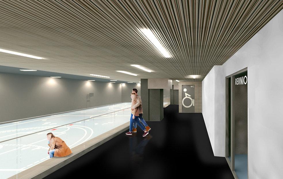 Modélisation 3D de l'aménagement Coque en Gymnase à Noisy-le-Grand