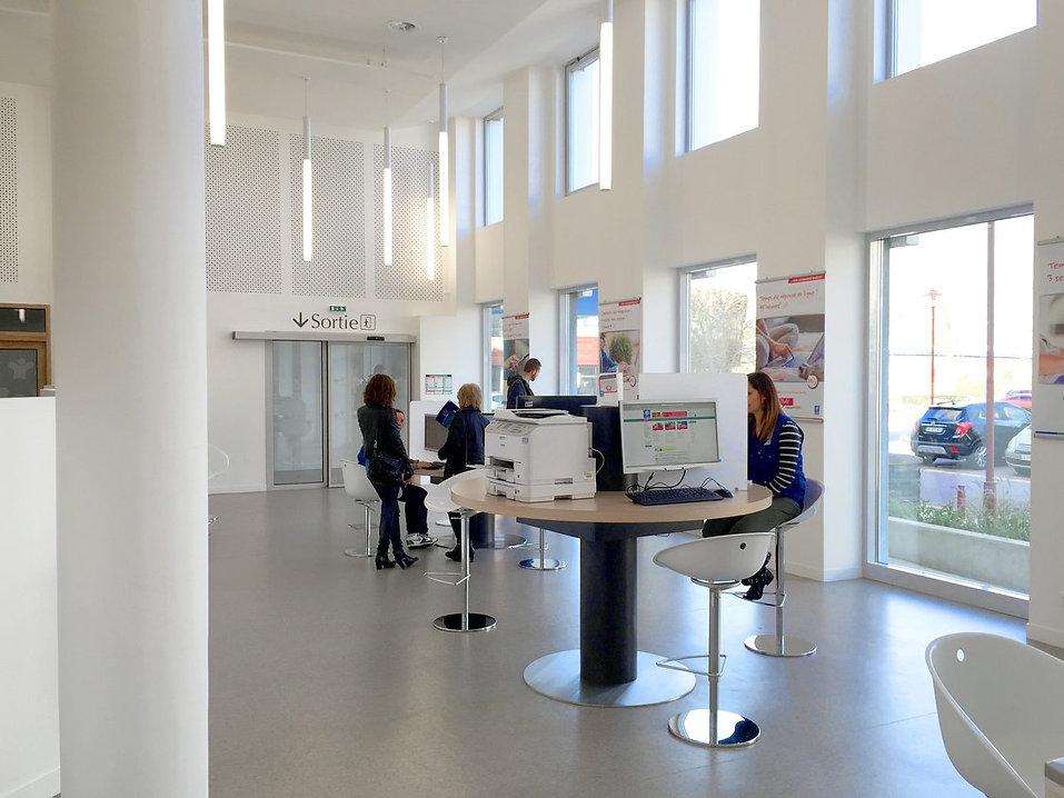 Photo de la Réhabilitation de l'accueil de la CAF à Elbeuf