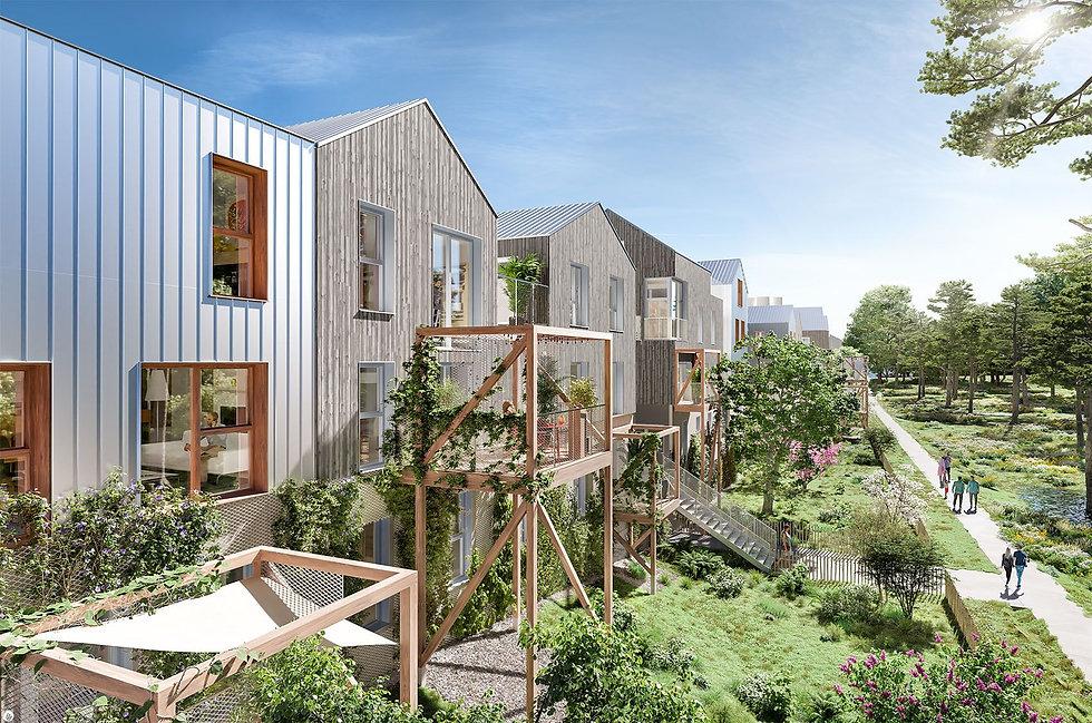 """Modélisation 3D de l'écovillage """"Prendre Racine"""" à Noisy-le-Grand"""