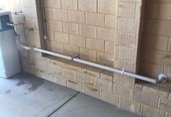 Water Softener drainage pipe