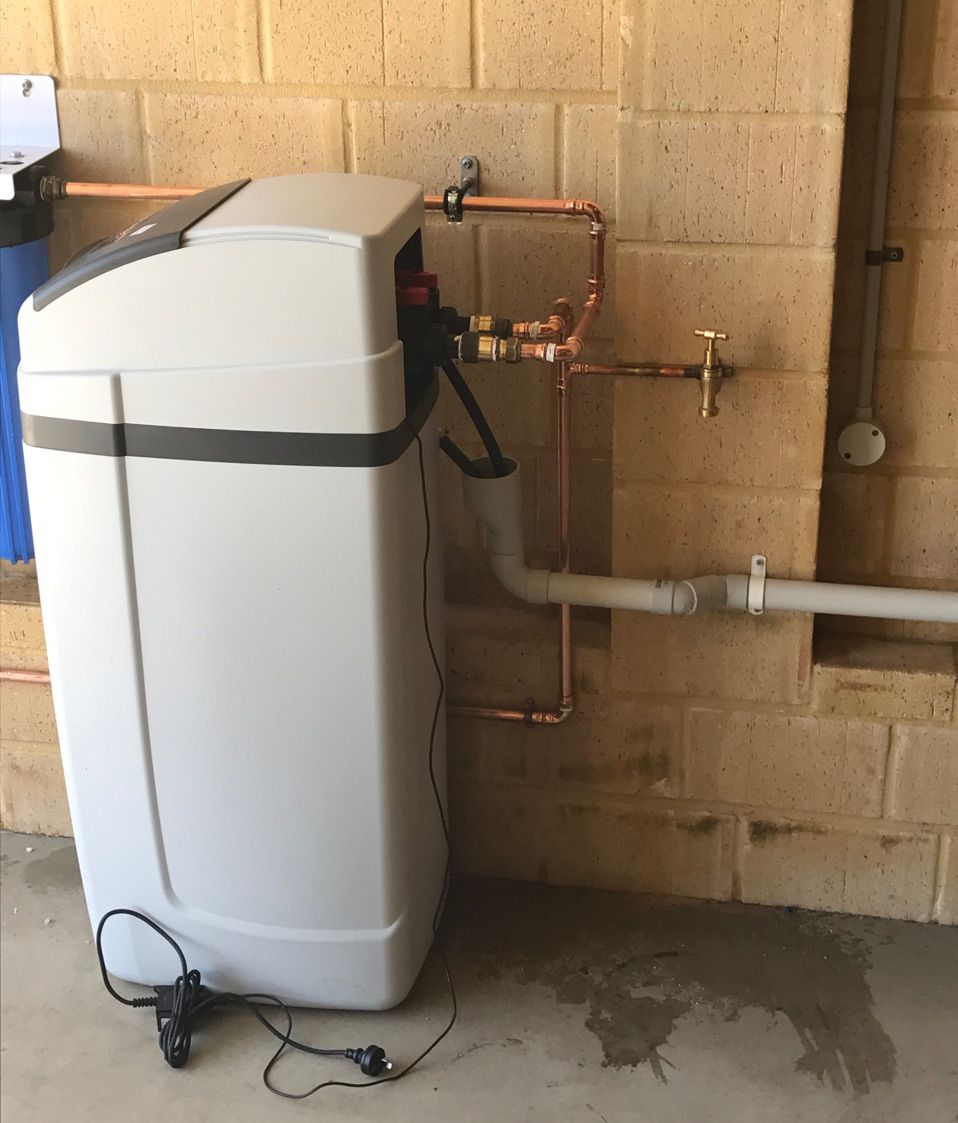 water softener pipe work