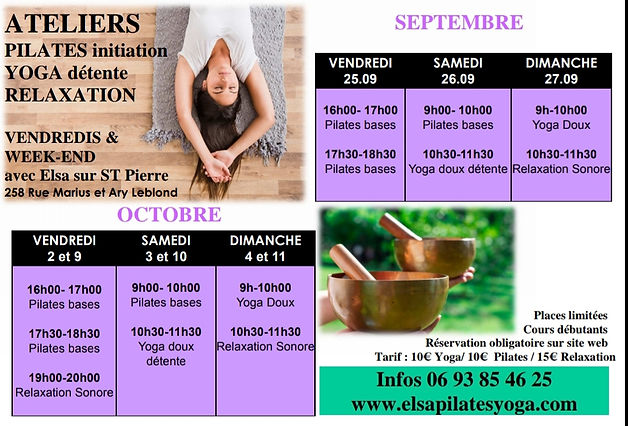 Ateliers du week-end Octobre et Septembr