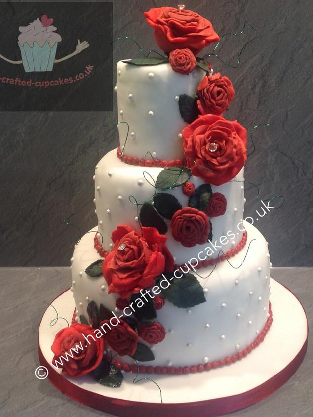 WC-280-Triple-Rose-Wedding-Cake