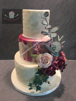 FDC-270-Triple-Tier-Marble-Pink-Rose-Wedding-Cake