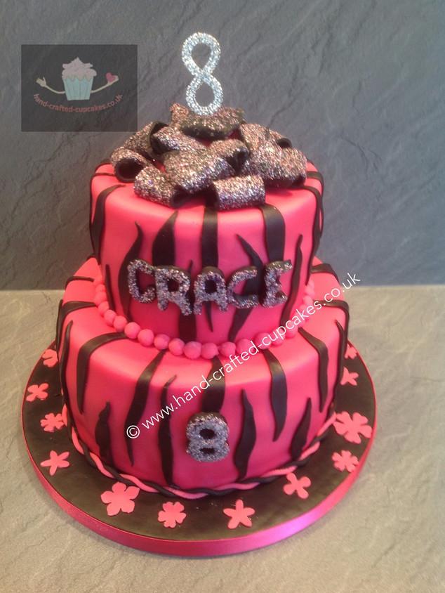WBC-350-Pink-Black-Stripe-Cake