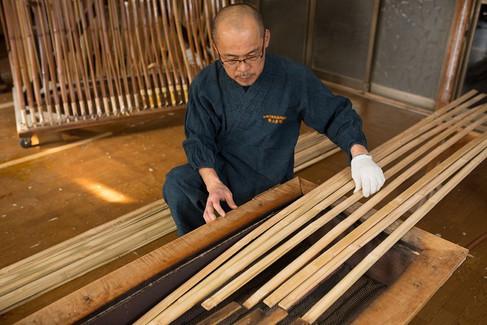 弓竹と芯竹の火入れ