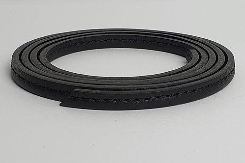 Zugband aus Rindsleder in schwarz 10330