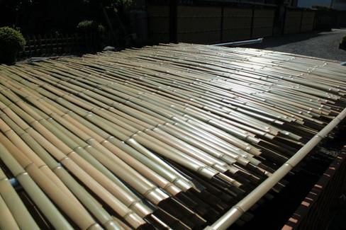 弓竹の天日干し