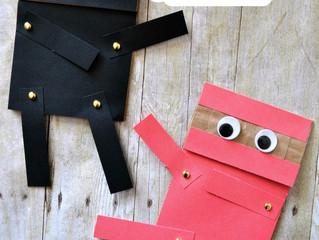 Paper Bag Ninja Craft