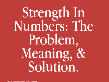bckgrnd. prompts— Strength In Numbers: The Problem, Meaning & Solution.