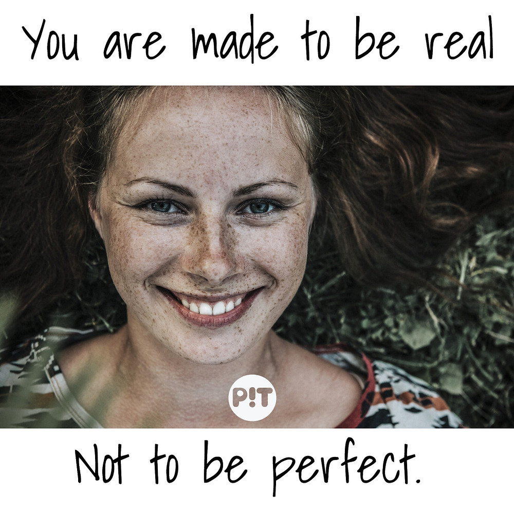 Quote You are made to be real, not to be perfect