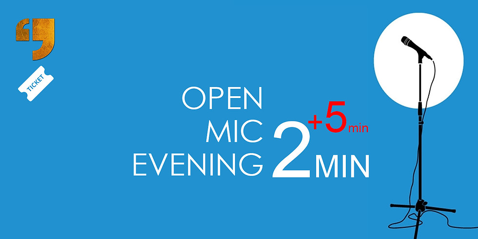 Open mic evening in English