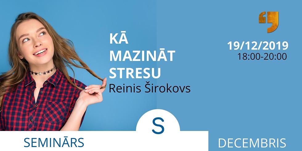 Kā mazināt stresu?