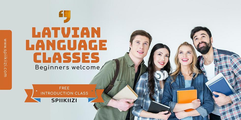 Latvian language classes. Free introduction