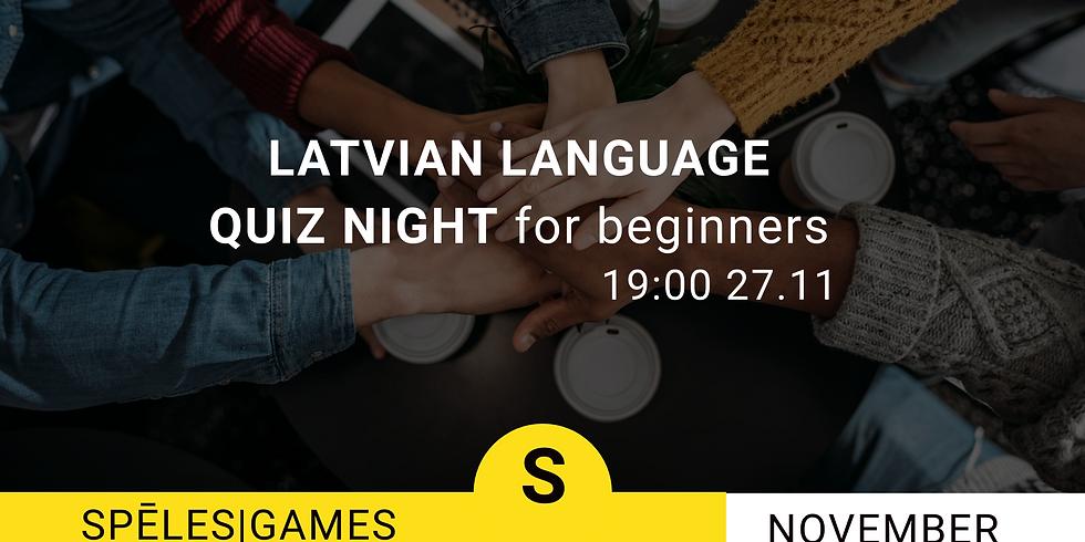 Latvian language quiz night for beginners