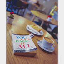 Black coffee with book and apple pie