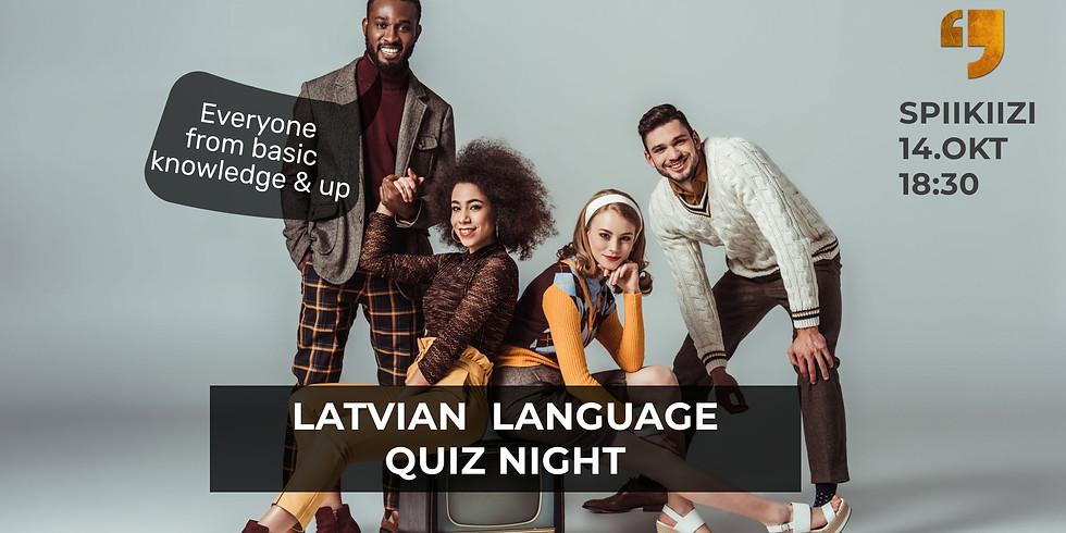Free: Latvian language quiz night