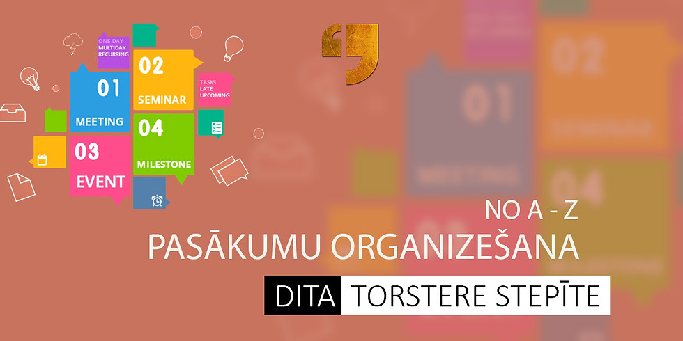 Pasākumu organizēšana no A-Z