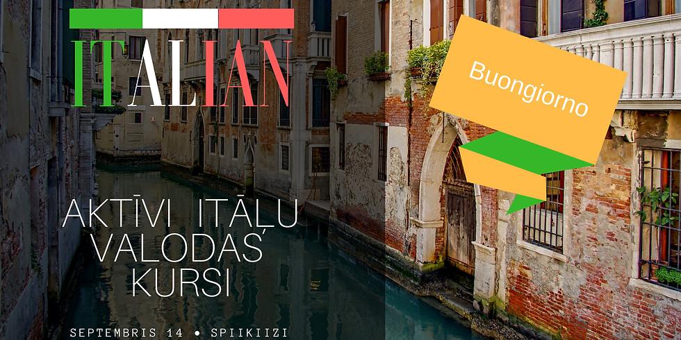 Aktīvi Itāļu valodas kursi. Septembrī