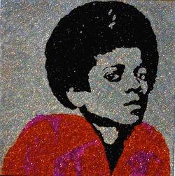 Glitter Pop Art Michael Jackson Art