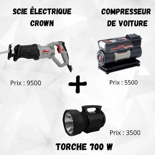 Scie +compresseur+ torche