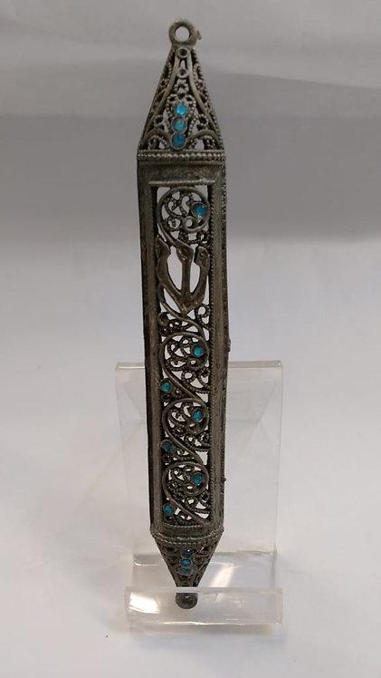 Mezuza metal calada con brillos