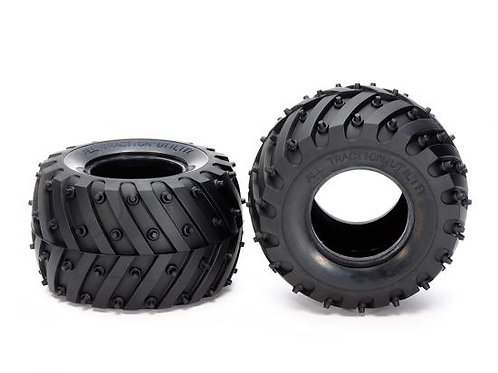 Tamiya WR-02 / Lunchbox Soft Monster Spike Tyres (1pr) - 54603