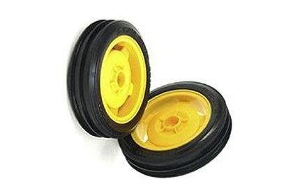 Tamiya 2wd Front Wheel / Tyre - 1pr (DT-01/DT-02/DT-03) - 9400231