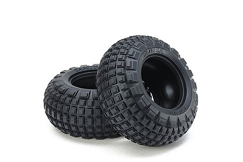 Tamiya ST Block Front Bubble Tires (Soft/1pr-WR02CB) - 54953