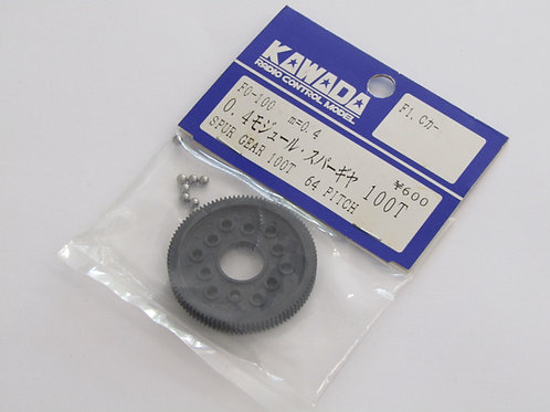 Kawada 0.4 Mod/ 64 Pitch  Spur Gear 100T (Tamiya F1 / Group C)  F0-100