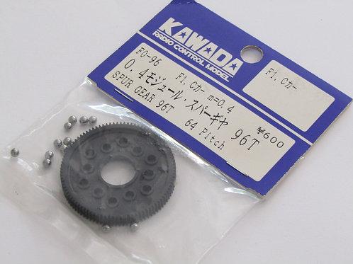 Kawada 0.4 Mod Spur Gear 96T (Tamiya F1 / Group C)  F0-96