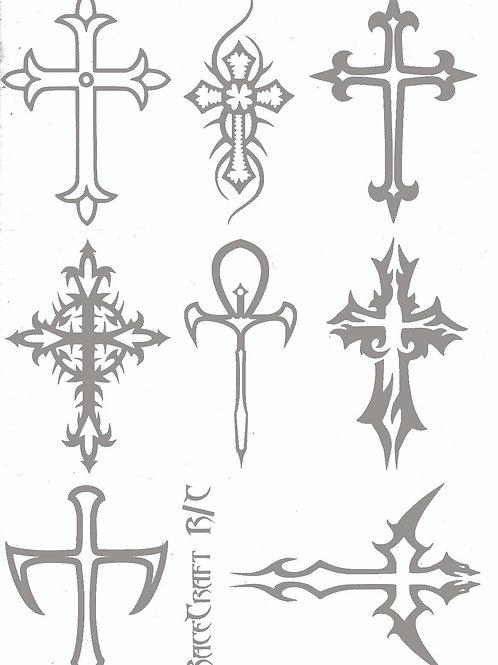 Paint Mask-Gothic Crosses