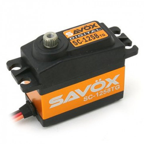 SAVOX SC1258TG - HIGH TORQUE CORELESS DIGITAL SERVO 12KG@6.0V