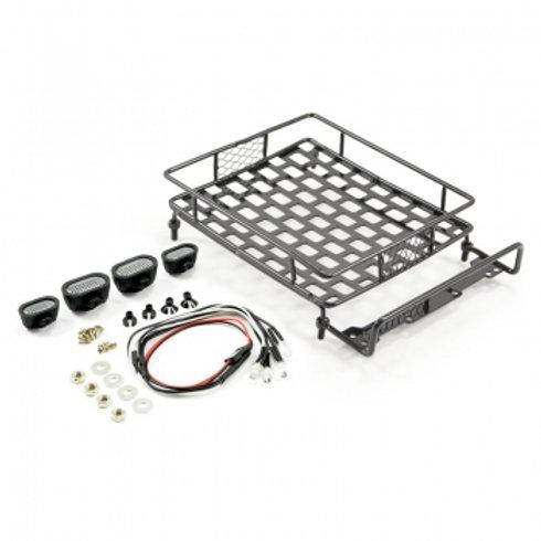 FASTRAX BLACK ALUMINIUM LUGGAGE RACK w/LED LAMPS L165MM X W112MM - FAST2300BK