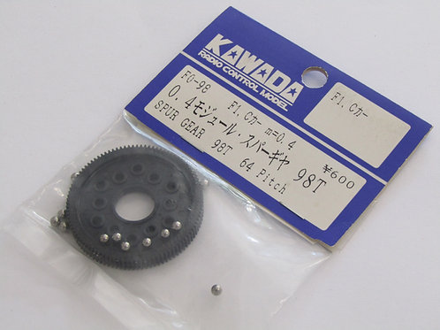 Kawada 0.4 Mod/ 64 Pitch  Spur Gear 98T (Tamiya F1 / Group C)  F0-98