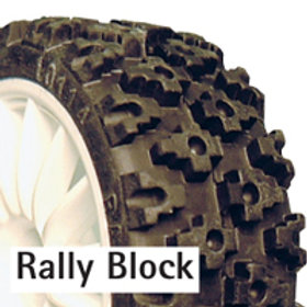 Fastrax Rally Block Tyre (Set of 4) With Foam Inserts - FAST 372